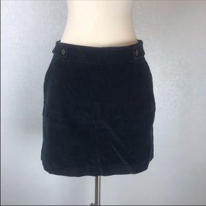 Banana Republic Navy Blue  Corduroy Mini Skirt 10